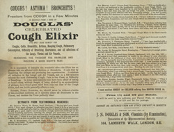 Advert For Douglas' Cough Medicine